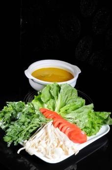 浓汤浸时蔬图片
