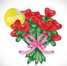 氣球鮮花圖片