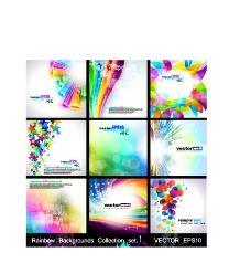 色彩缤纷背景素材