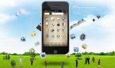 手机iphone海报图片