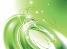 绿色柔和动感曲线 光圈图片