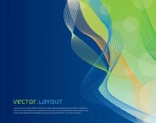蓝绿动感曲线图片