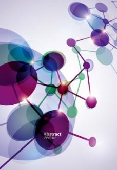 立体动感分子结构背景 商务科技背景图片