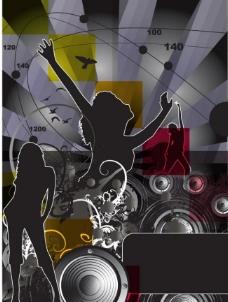 舞蹈音乐背景海报图片