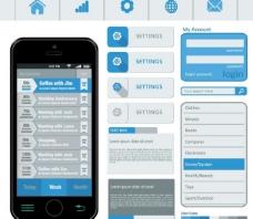 手机设计界面元素图片
