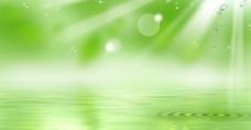绿色水波背景图片