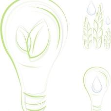 绿色灯泡麦穗图片