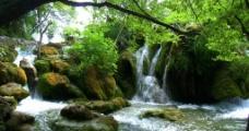山下小溪图片