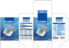 电子血压计包装平面图图片