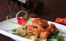 百合虾仁图片
