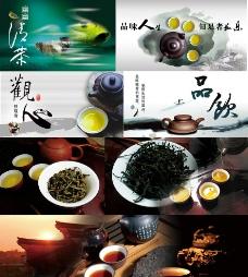 茶文化墙画图片