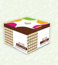 蛋糕盒包装设计展开图图片