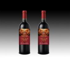 红酒酒标平面图图片