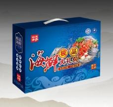海鲜礼盒包装 (平面图)图片