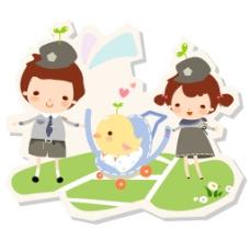 儿童警察和小鸡图片