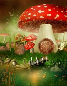 动漫蘑菇图片