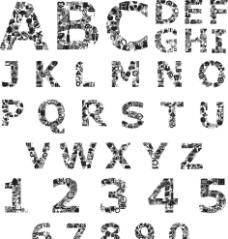 字母与数字设计图片