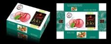 苹果礼盒包装(平面图)图片