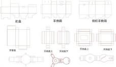 纸箱 彩盒 线图图片