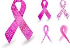 粉红色丝带图片