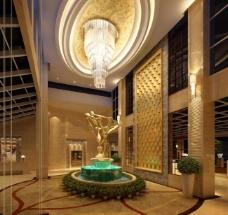 大厅装饰雕塑效果图图片