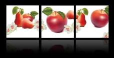 手绘水果三联画图片