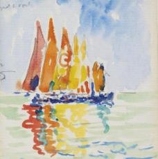 帆船油画图片