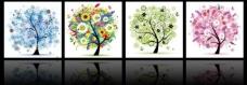 发财树三联图图片