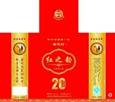 红之韵酒盒图片