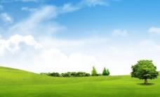 蓝天白云图片海报