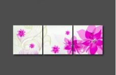 背景墙 花卉 三框图图片