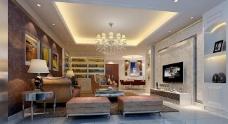 偏欧式风格客厅图片