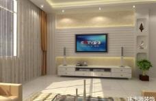 电视墙效果图图片