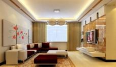 简约客厅电视墙设计图片