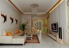 客厅效果图 简约 2011年新作图片