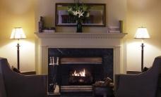 沙发 壁炉图片