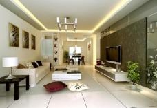 現代客廳效果圖圖片