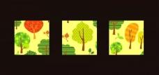 清新绿色树壁画装饰画图片