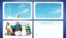 圣诞节雪景素材图片