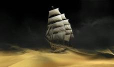 动漫 沙漠船图片