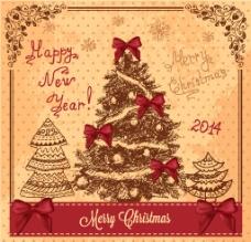复古圣诞背景图片