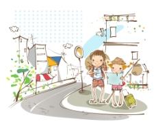 背包儿童旅行者图片