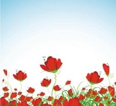 鲜花矢量模板图片
