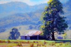油画 农场小屋图片