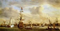 船油画图片