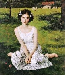 美女油画图片