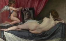 镜前的维纳斯图片