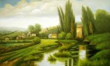 风景油画 装饰画 无框画图片