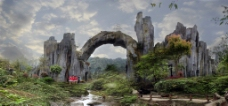 梵净山亚木沟风景图片