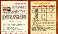 足疗价格表图片
